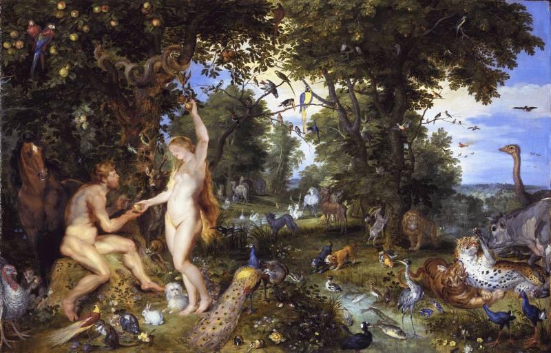 Питер Пауль Рубенс. Эдемский сад с грехопадением человека.