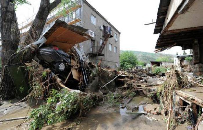 Последствия наводнения.