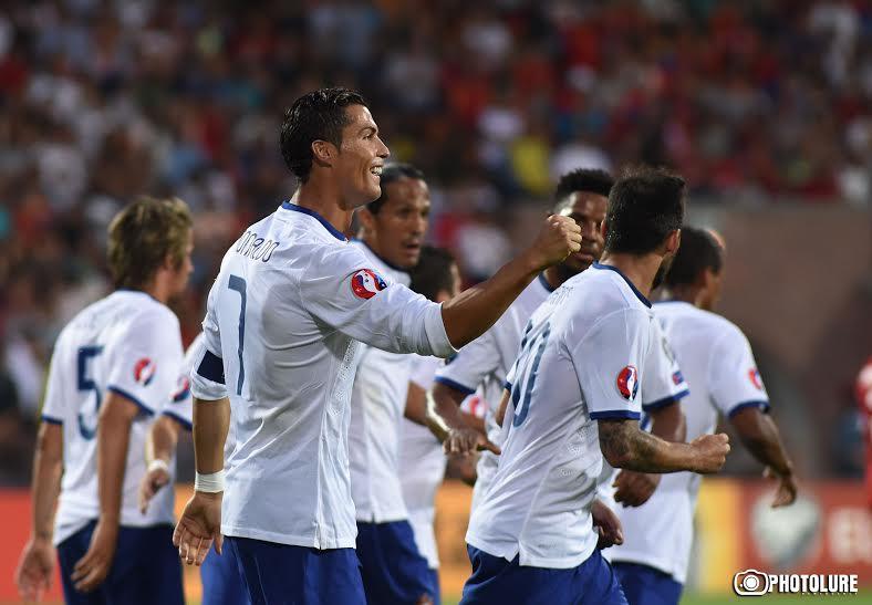Хет-трик Роналду принес волевую победу Португалии в Ереване