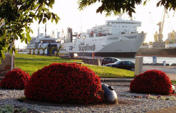 Вентспилсский порт.