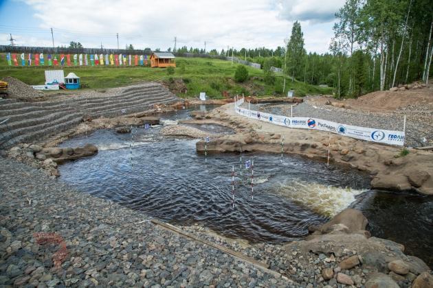 Слаломный канал в Окуловке Новгородской области.