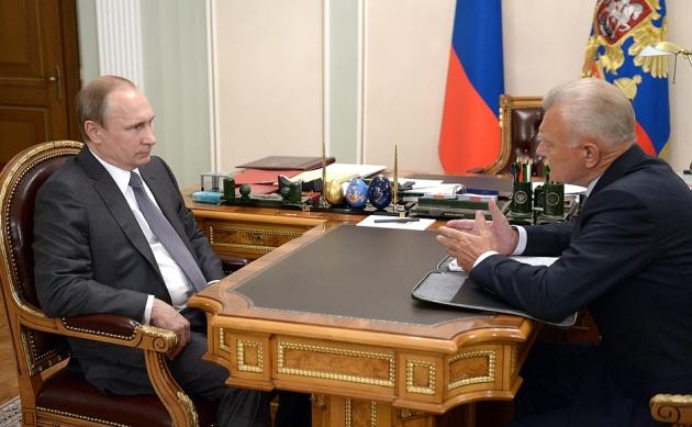 Президент России встретился с губернатором Рязанской области