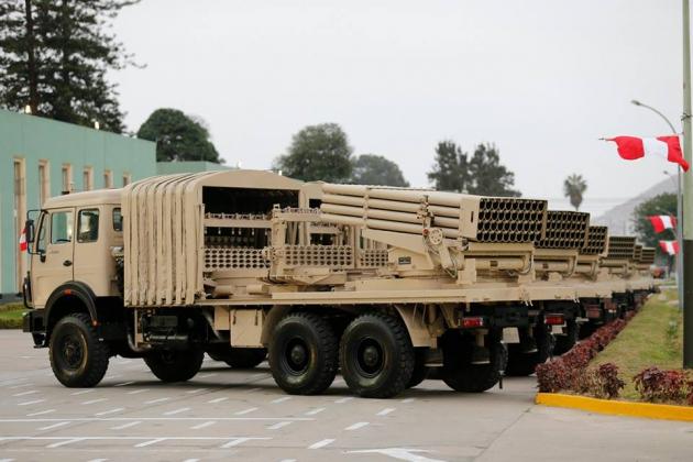 Перу меняет советские системы залпового огня «Град» на китайские Type 90B