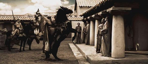 Кадр из фильма «300 спартанцев» (реж. З. Снайдер, 2007)