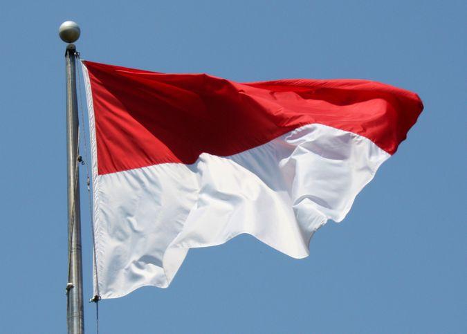 Флаг республики Индонезия.