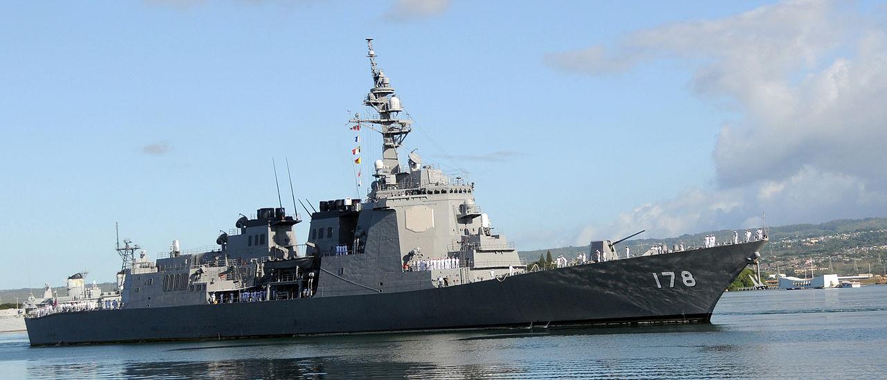 Японский эсминец типа «Атаго» с системой Aegis.