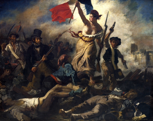 Эжен Делакруа. Свобода, ведущая народ (Свобода на баррикадах). 1830
