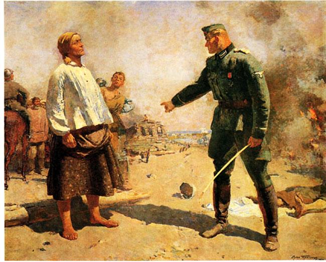 Сергей Васильевич Герасимов. Мать партизана. 1943 (Иностранный инструктор )