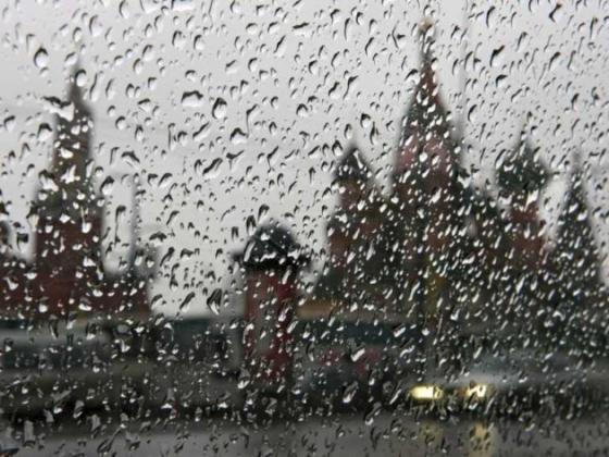 Непогода в Москве.