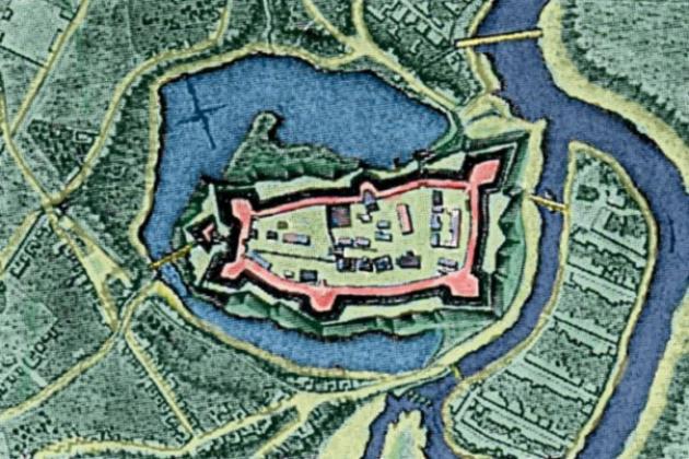 План крепости в Великих Луках.