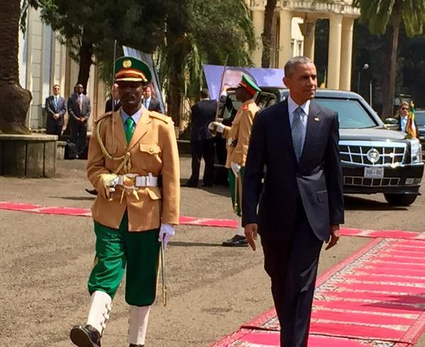 Обама в Эфиопии.