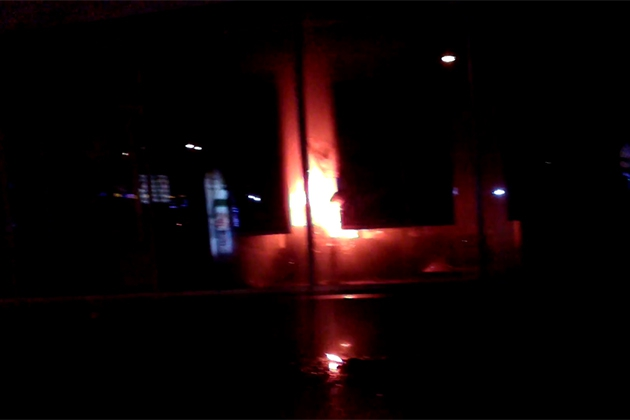 Во Львове сожгли отделение «Сбербанка России»