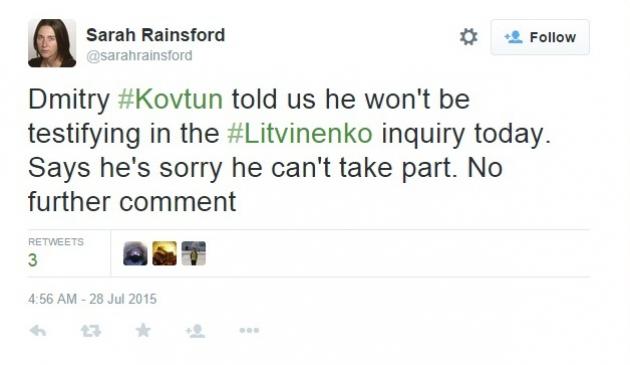 Бизнесмен Ковтун не дал показания по делу Литвиненко