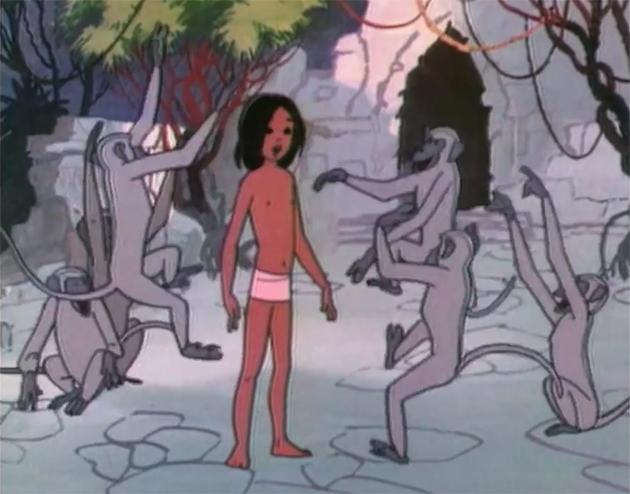 Кадр из мультфильма «Маугли» (реж. Р. Давыдов, 1973)