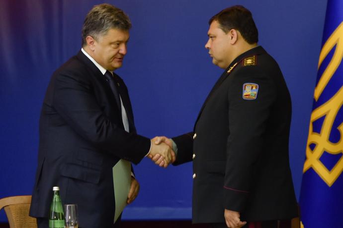 Петр Порошенко и Валерий Кондратюк.