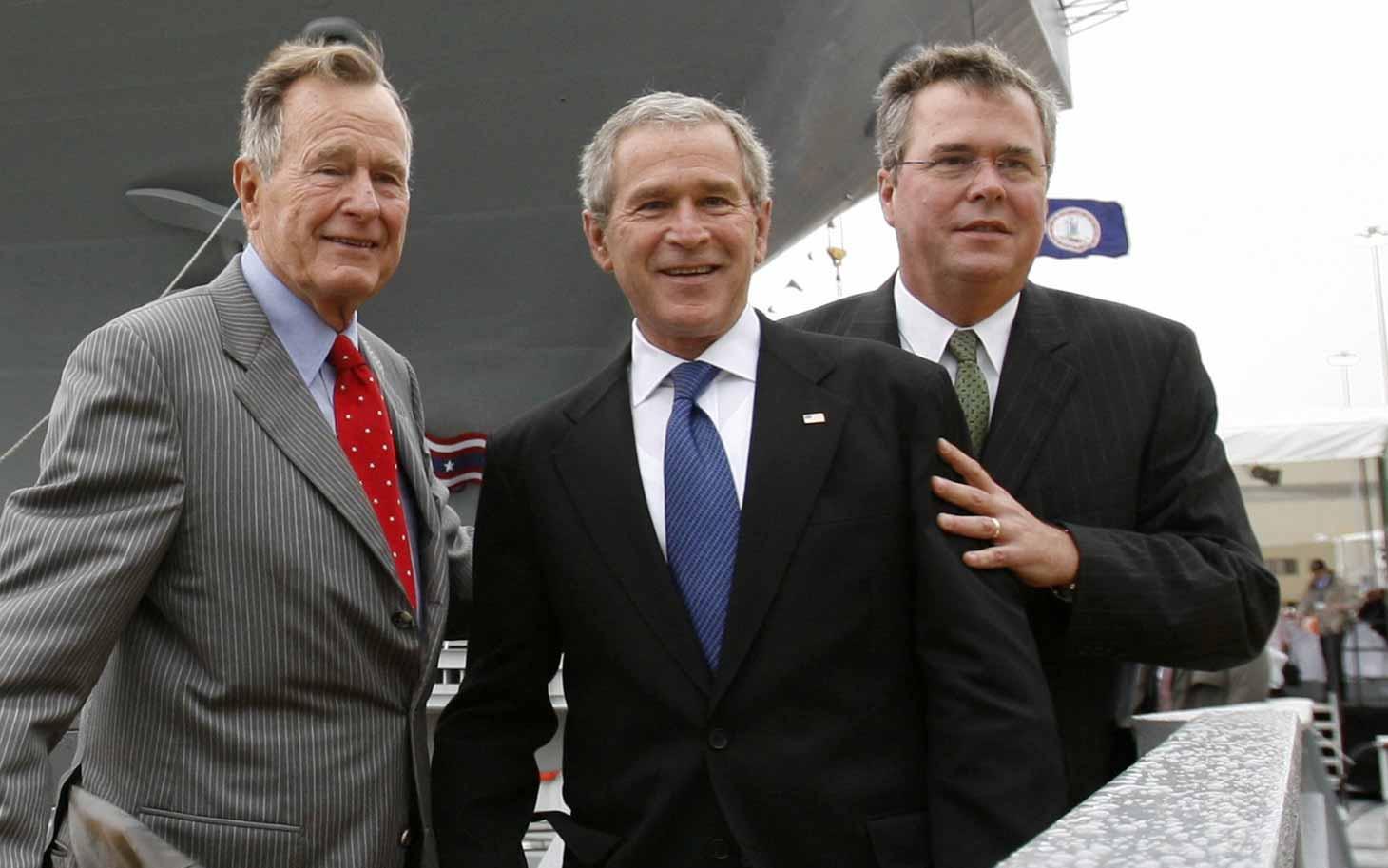 Президенты США из клана Бушей.
