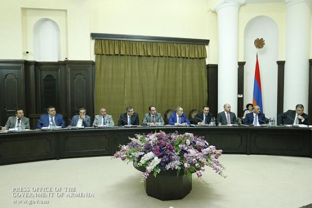 Совет по борьбе с коррупцией. © Пресс-служба правительства Армении