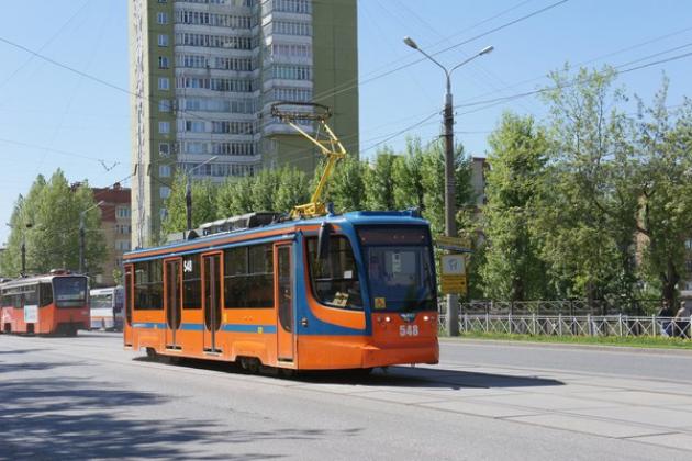 Трамвай Пермь.
