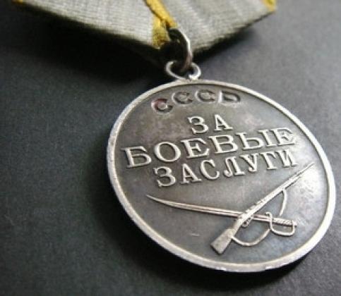 Медаль «За боевые заслуги».