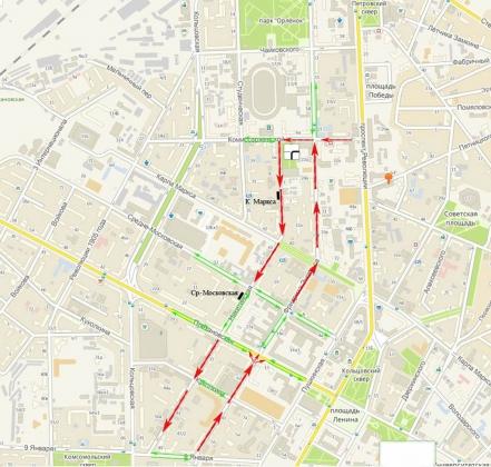 Две центральные улицы Воронежа сделают односторонними