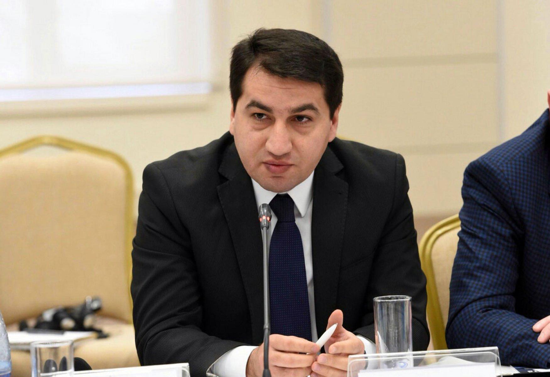 Пресс-секретарь МИД Азербайджана Хикмет Гаджиев.