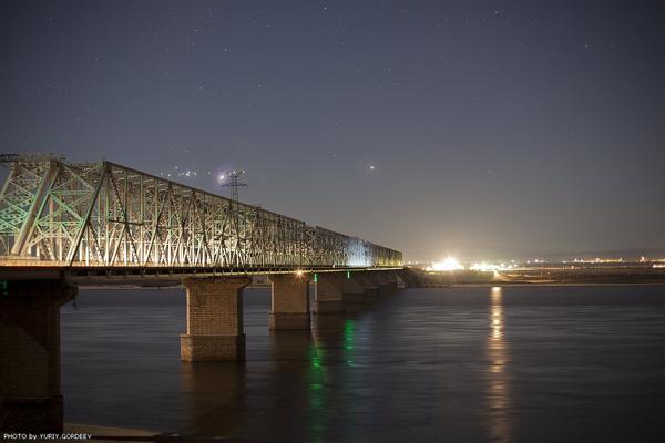 Мост через Амур у Комсомольска-на-Амуре. Автор фото: Юрий Гордеев