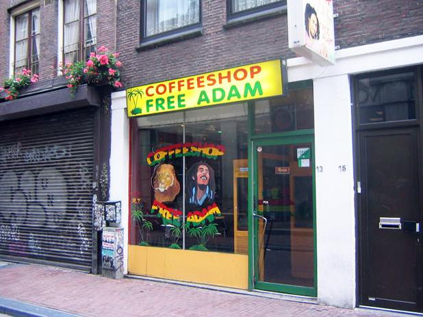 Кафе в Амстердаме.