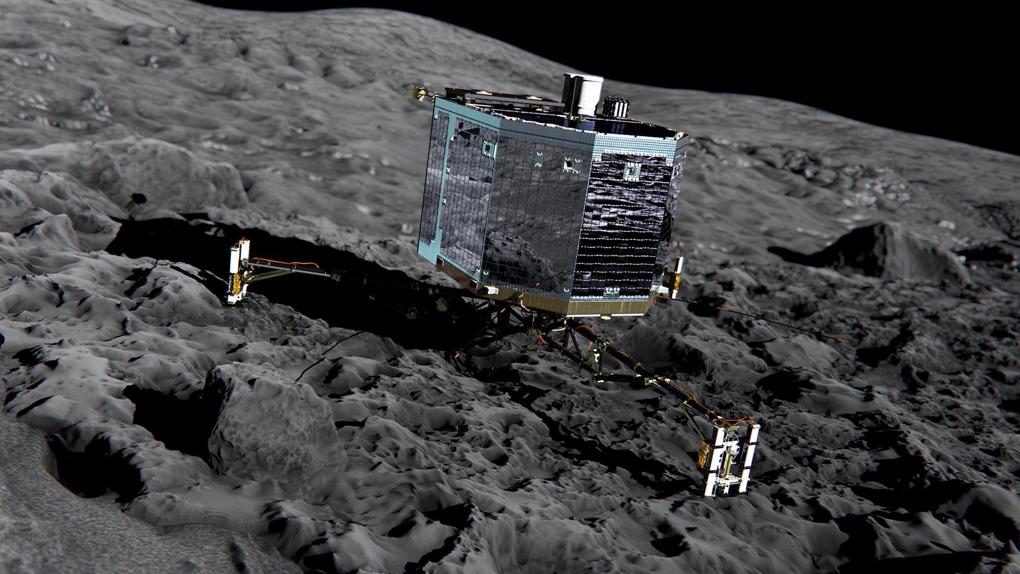 Аппарат Фила на комете Чурюмова-Герасименко.
