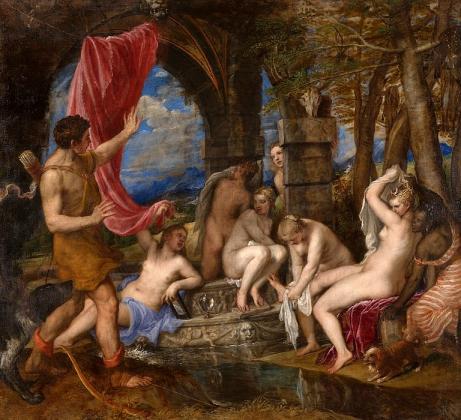 Тициан. Диана и Актеон.