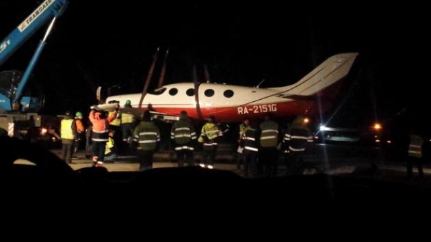 В Домодедово самолет приземлился «на брюхо»