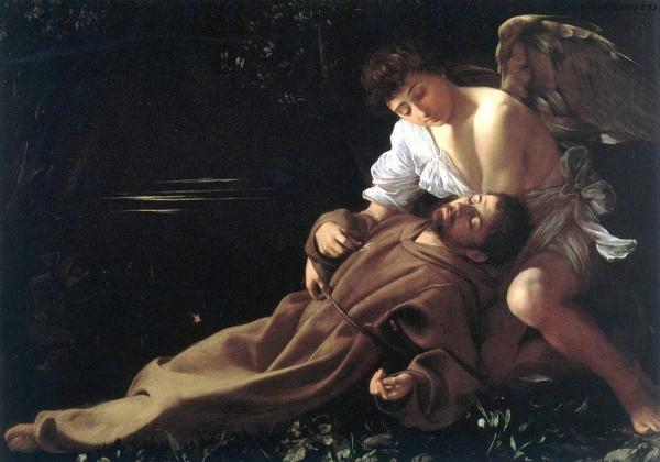 Караваджо. Блаженство святого Франциска. 1595 г.