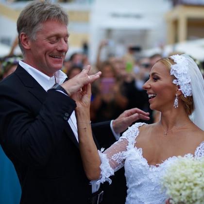 Дмитрий Песков и Татьяна Навка празднуют свадьбу.