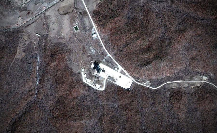 До строительства крыши Космодром «Сохэ» — как на ладони.