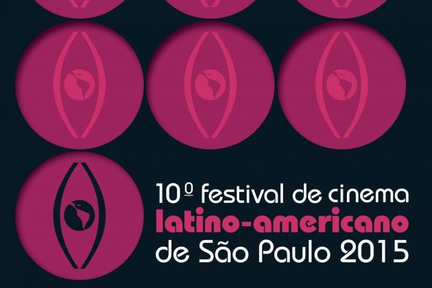Логотип Десятого Фестиваля латиноамериканского кино в Сан-Паулу.