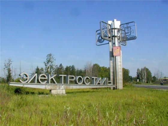 Стелла при вьезде в город Электросталь.