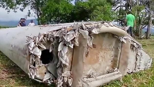 Дверь пропавшего в 2014 г. Boeing 777 оказалась стремянкой
