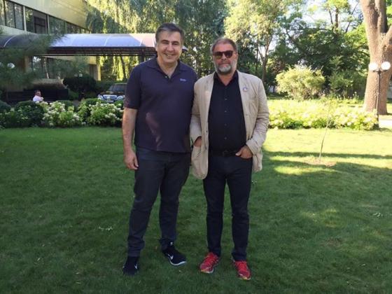 Михаил Саакашвили и Борис Гребенщиков.