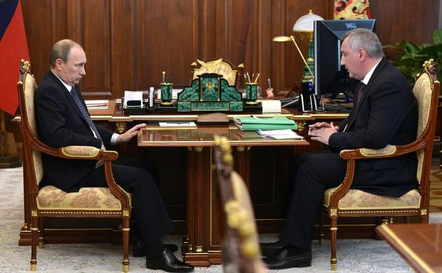 Владимир Путин и Дмитрий Рогозин.