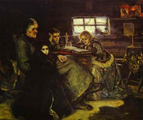 Василий Суриков. «Меншиков в Берёзове», 1883
