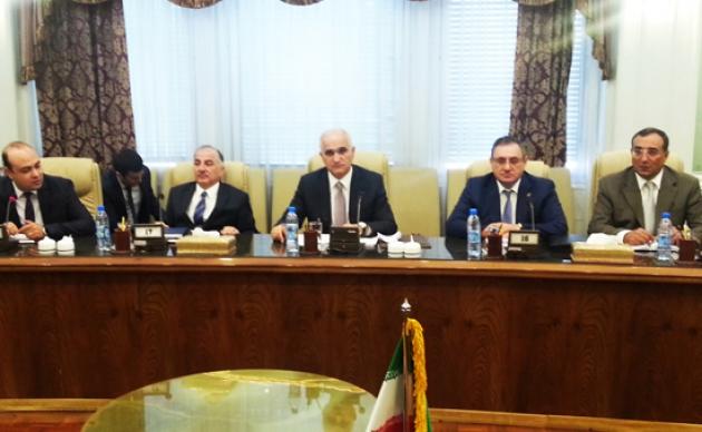 Встреча в Тегеране министром экономики и промышленности Азербайджана Шахином Мустафаевым с министром нефти Ирана Намдаром Бижаном Зангане.