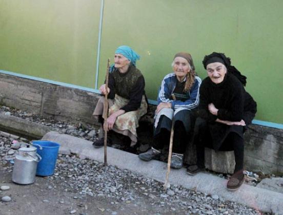 Пенсионеры Грузии.