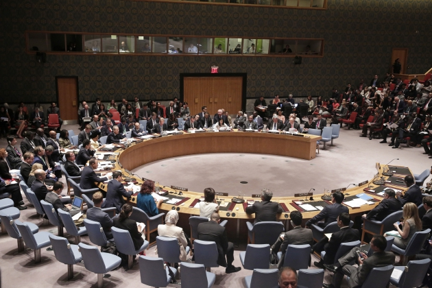 Заседание ООН.