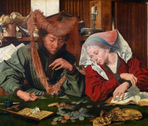 Маринус ван Реймерсвале. Меняла и его жена. 1539 год