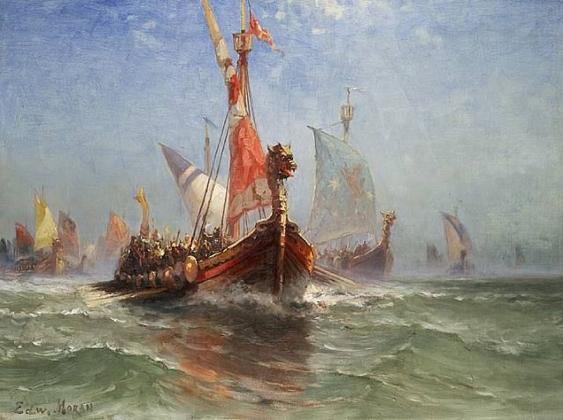 Эдвард Моран. Корабль викингов. 1860-е.