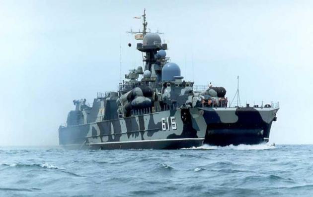 Десантный корабль ВМФ России.