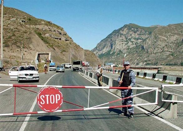 Граница Северной Осетии с Грузией.