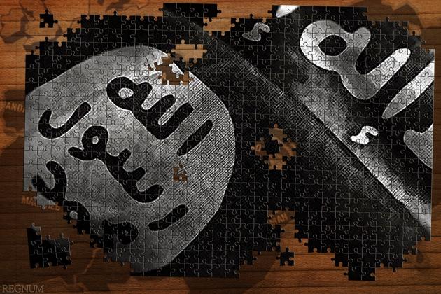 Флаг «Исламского Государства Ирака и Леванта». Коллаж ИА REGNUM