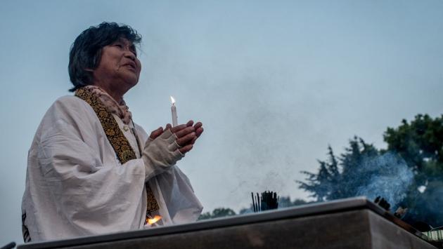 Минута молчания в Хиросиме.