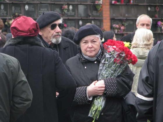 Борис Моисеевич Ходорковский (в тёмных очках).