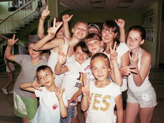 Дети отдыхавшие в лагере имени Ю.А. Гагарина